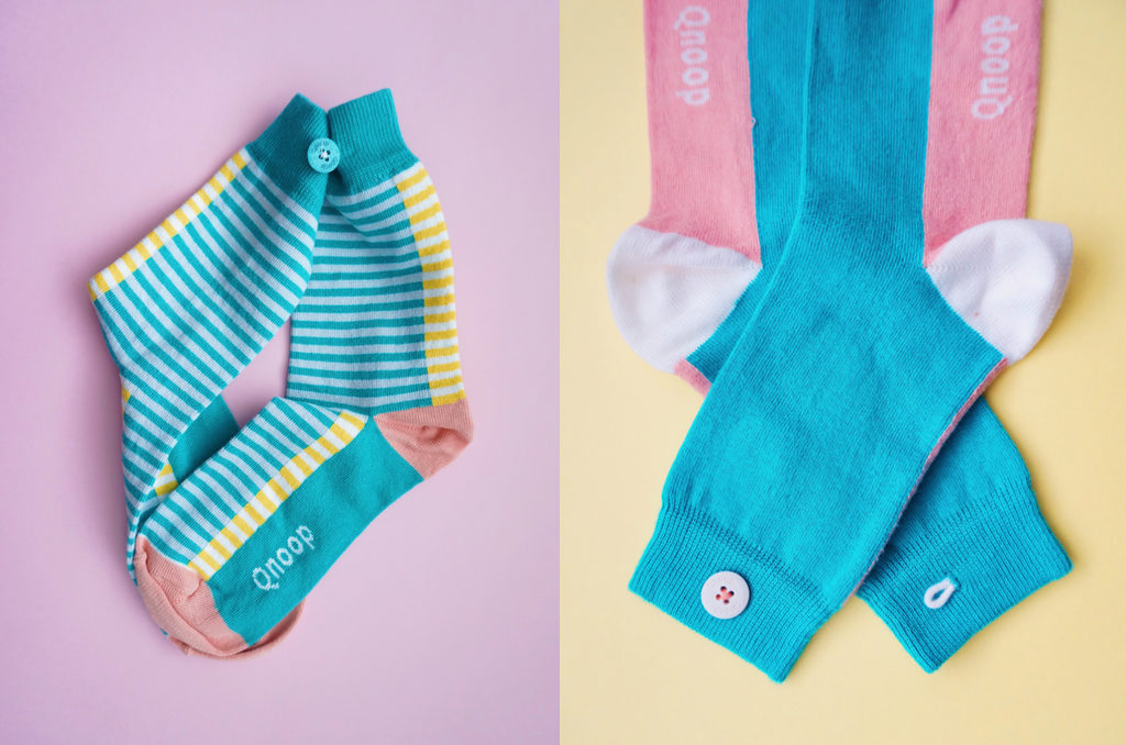 Styling Qnoop socks for Simple & Funky